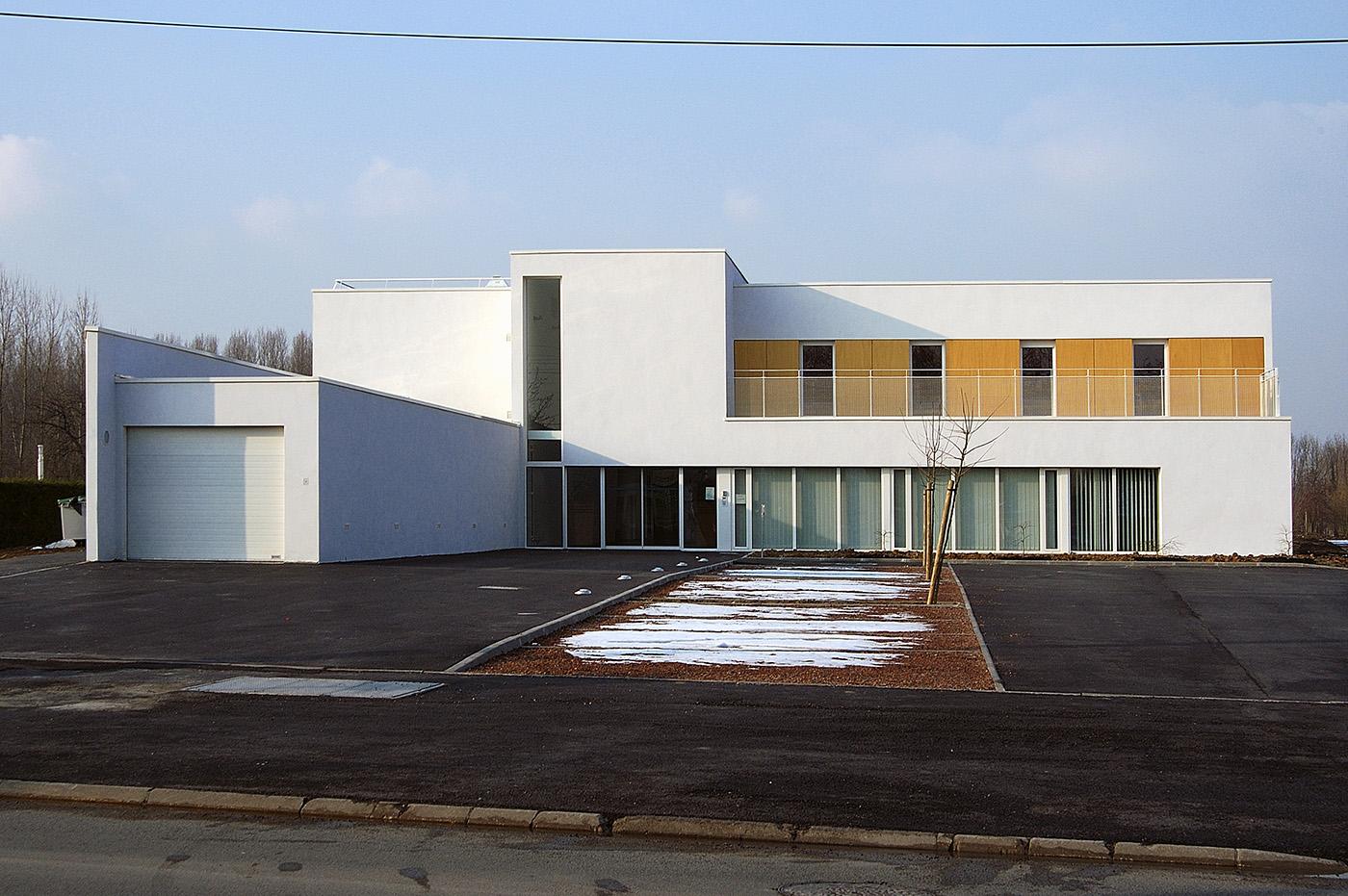 """pour Gilles FROMENT_architecte/PARALLELE-3 : Centre psychiatrique """"Les passerelles-La source"""" 29/02/2004 St Venant"""