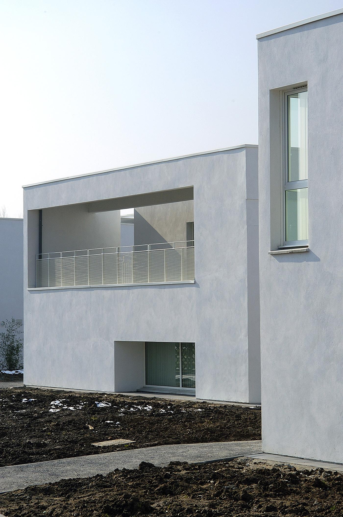 """pour Gilles FROMENT_architecte/PARALLELE-3 : Centre psychiatrique """"Les passerelles-La source"""" 01/03/2004 St Venant"""