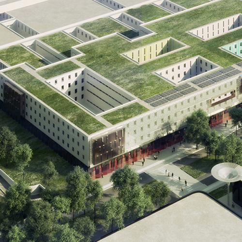centre hospitalier p s g g o architectes. Black Bedroom Furniture Sets. Home Design Ideas